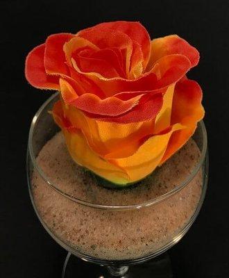 Ruusu-kukkapää, oranssi/punainen