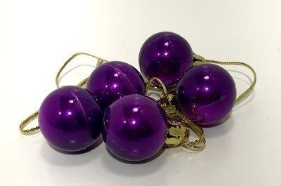 PIENI joulupallo Ø2,5cm, 5kpl, violetti