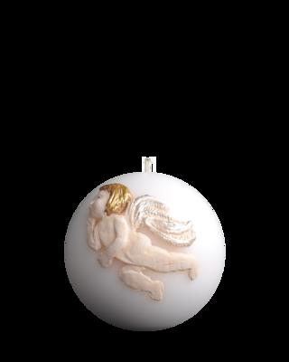 Pallokynttilä enkelikuviolla Ø10cm