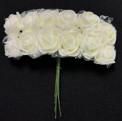 Softisruusu pieni 12kpl, valkoinen