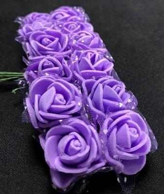 Softisruusu pieni 12kpl, violetti