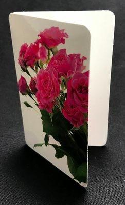 Pieni kortti: pinkit ruusut