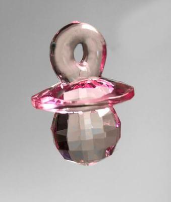 Tutti-muovikristalli 5kpl, vaaleanpunainen