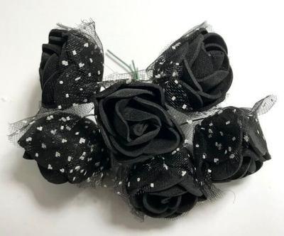 Softisruusu 6kpl, musta
