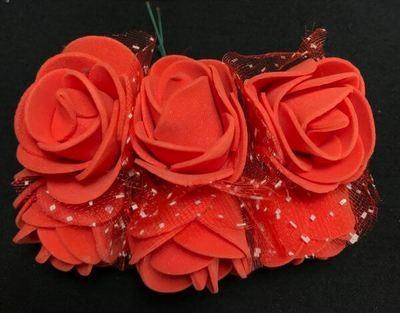 Softisruusu 6kpl, punainen