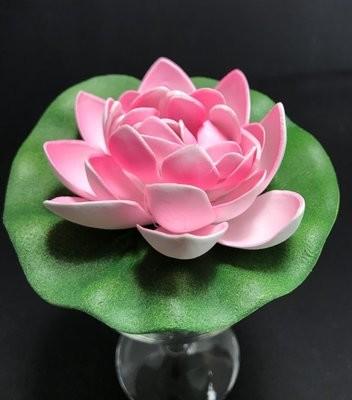Pieni lumpeenkukka-kukkapää, vaaleanpunainen