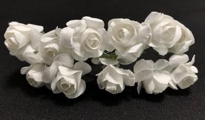 Paperiruusu 12kpl, valkoinen