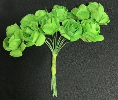 Paperiruusu 12kpl, vihreä