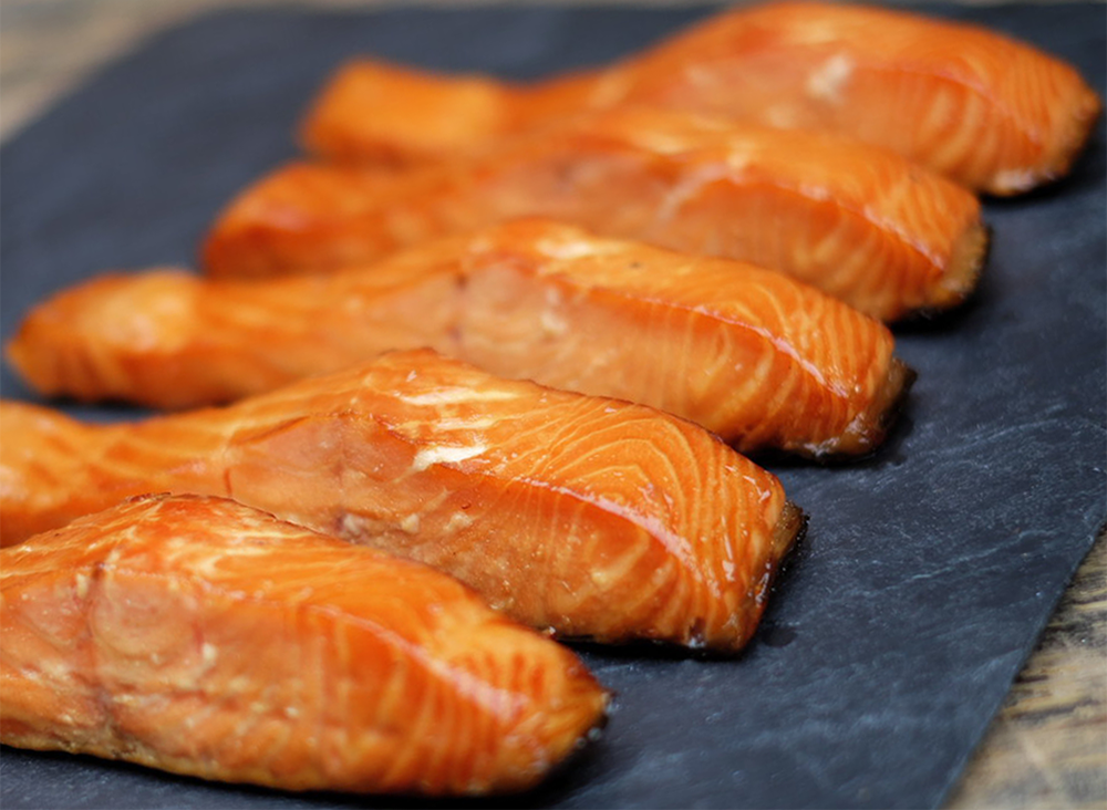 4 1/2 Lb Hot sMoked Salmon Portions