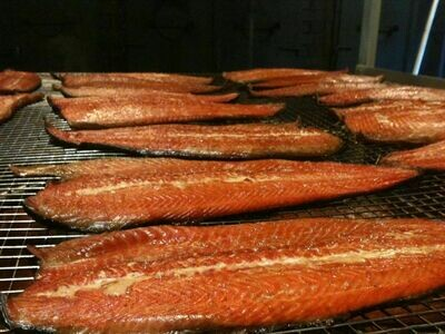 Hot sMoked Salmon Fillet 3.5 Lb's Avg