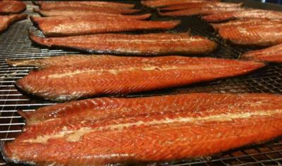 Hot sMoked Salmon Fillet 3+ Lb's Avg