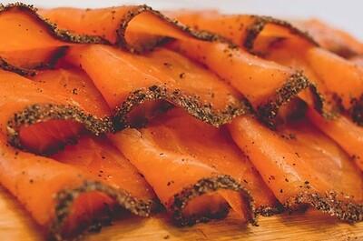 Pastrami Cold sMoked Salmon Sliced