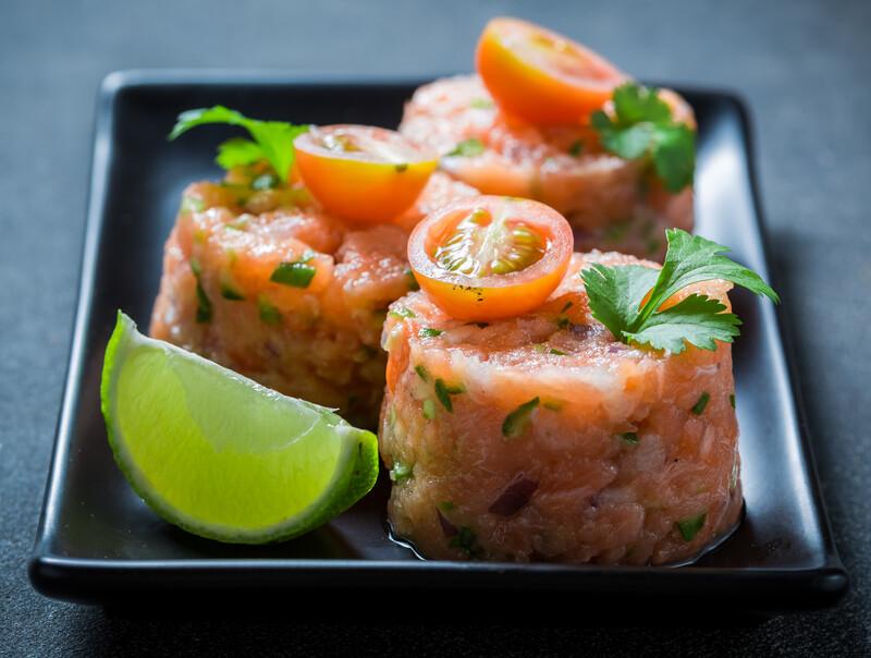 sMoked Salmon Tartar with sMoked Veggies