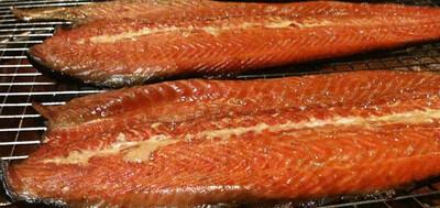 Hot sMoked Salmon Fillet 4+ Lb's Avg