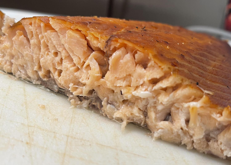 Bourbon Whiskey Infused Hot sMoked Salmon