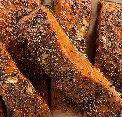 Black Pepper Hot sMoked Salmon