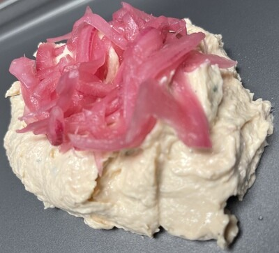 """sMoked Salmon Spread & Pickled Onions """"Low Sodium"""""""