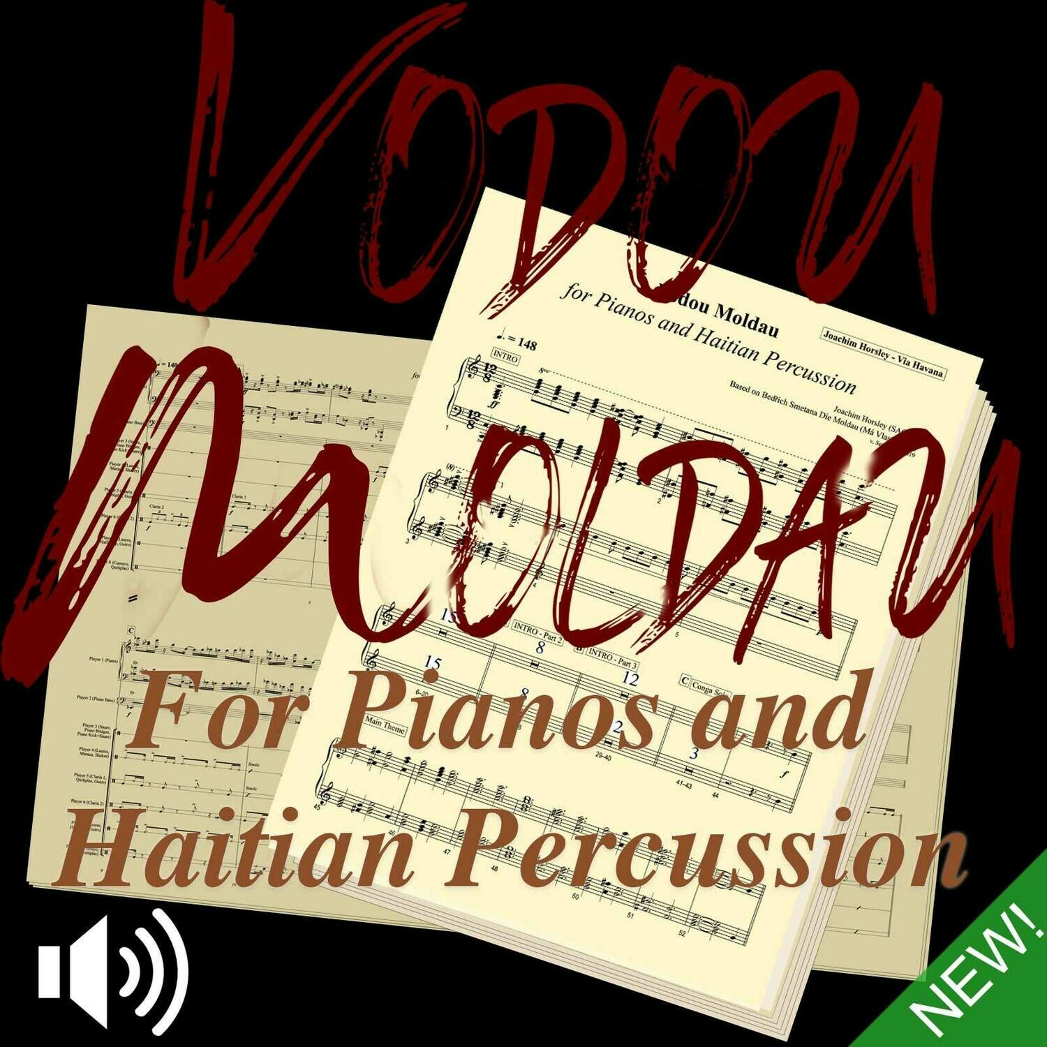 Vodou Moldau (Score, Parts, and Play-Along Mp3s)