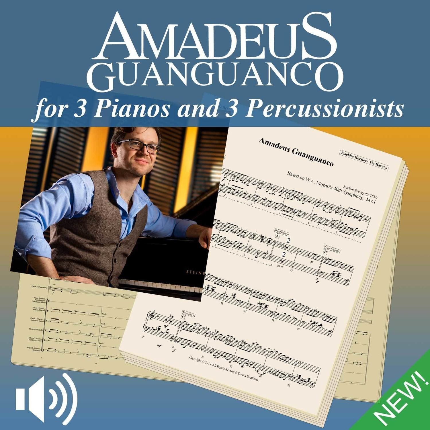 Amadeus Guanguanco - Score and Parts (and play-along audio)