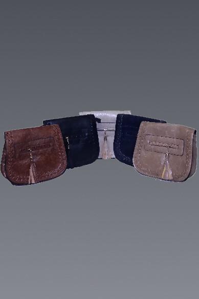 Braid Detail Front Flap Purse