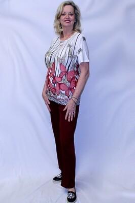 Fashion Short Sleeve Two Piece Pants Set