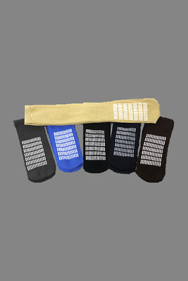 Unisex Slipper Socks – 3 Pack