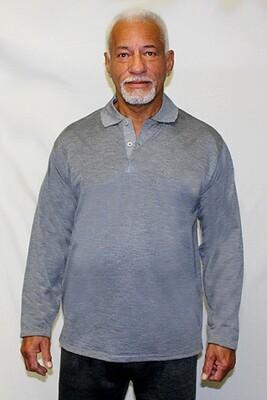 Jacquard Print Long Sleeve Pullover Shirt