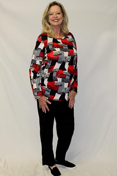 Patterned Print Fashion Long Sleeve Set