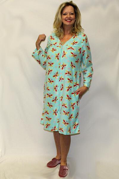 Printed Fleece Ladies Robe