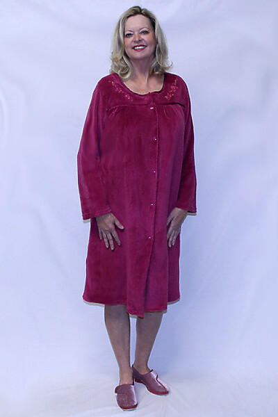 Brushed Velour Ladies Robe