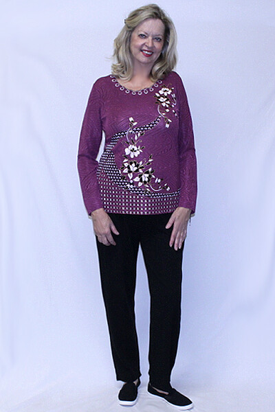 Subtle Flowery Fashion Long Sleeve Set