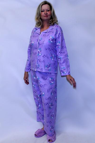 Ladies Long Sleeve Warm Pajamas