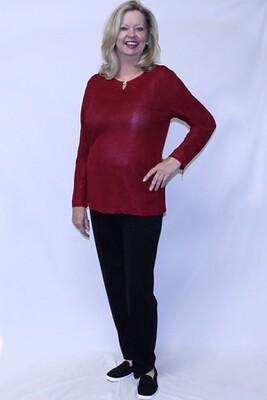 Solid Fashion Long Sleeve Set