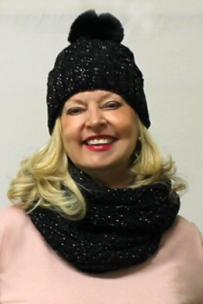 2pc Ladies Winter Hat & Scarf Set