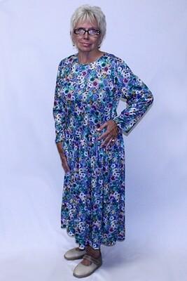 Back Opening Long Sleeve Polyester Dress