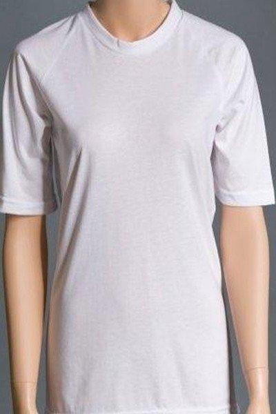 Back Opening Short Sleeve Undershirt (Women's)