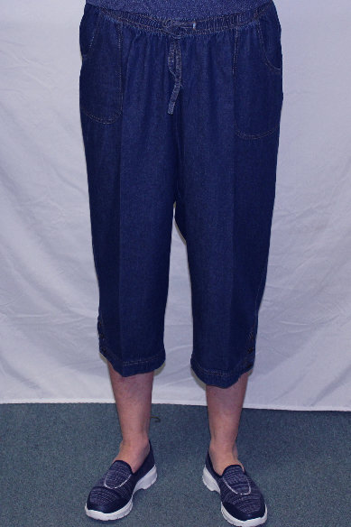 Denim Capri Pants