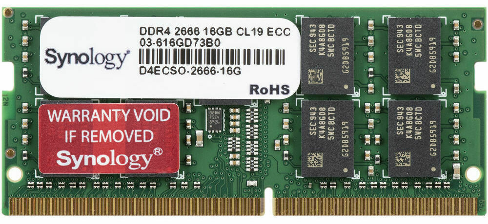 Synology 16GB DDR4 2666 MHz ECC Unbuffered SODIMM