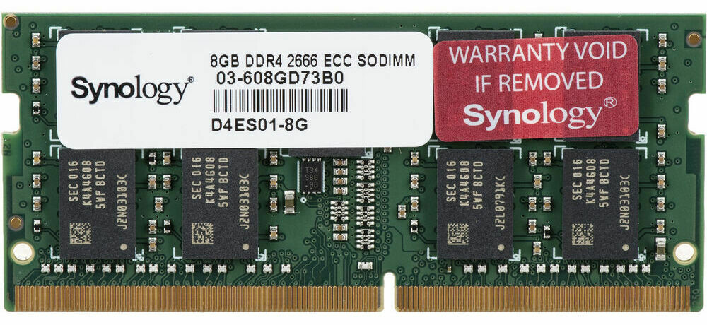 Synology 8GB DDR4 2666 MHz ECC Unbuffered SODIMM