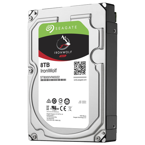 "Seagate 8TB IronWolf 7200 rpm SATA III 3.5"" Internal NAS HDD"