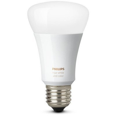 Philips Hue Single Bulb 2 Pack E27 White and Color Ambiance A19 10W