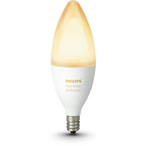 Philips Hue Single Bulb E14 White Ambiance B39 6W