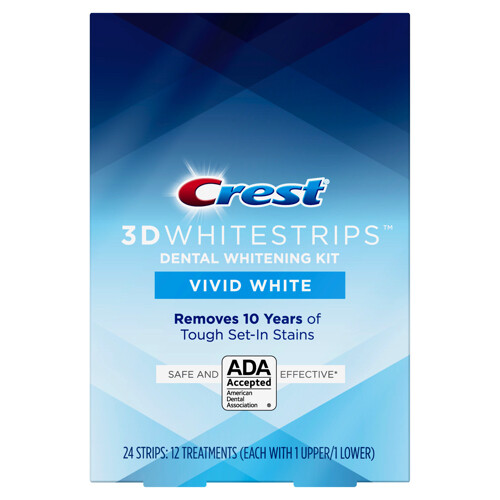 Crest 3D Whitestrips  VIVID, 12 Treatments لصقات كرست
