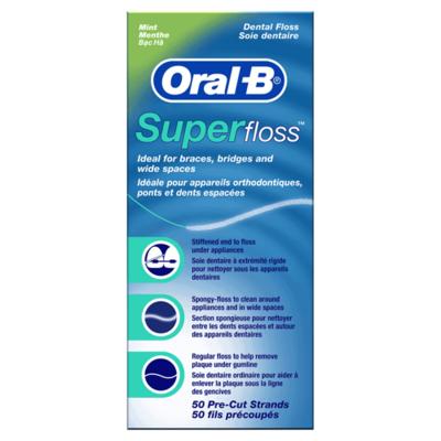 Oral-B SuperFloss  الخيط السوبر