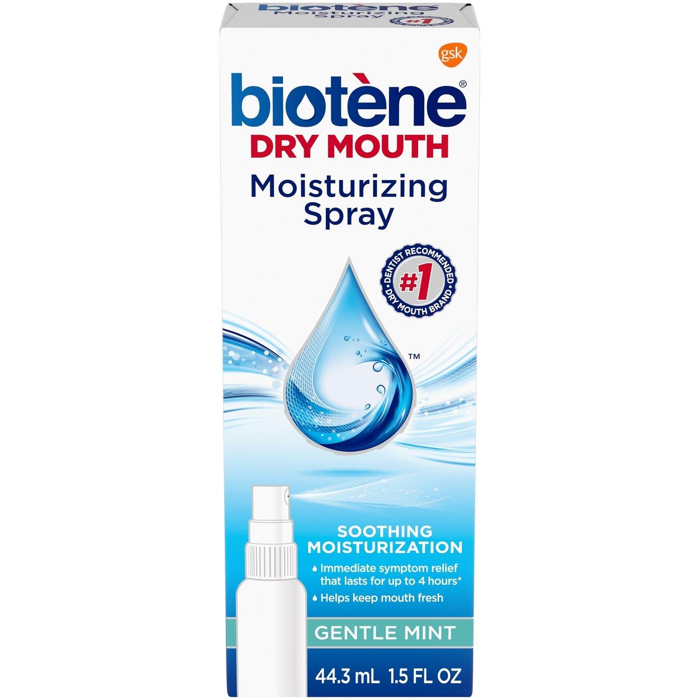 Biotene Dry Mouth Moisturizing Spray 44 ml بخاخ بيوتين لجفاف الفم بالنعناع