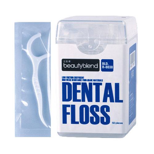 Tooth Picks Superfine pk of 50  خيط سنّي رفيع مع حامل