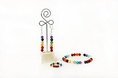 Conjunto pulsera, anillo y pendientes Chakras
