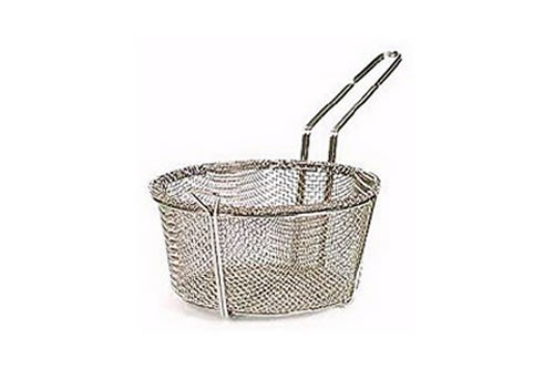 51-210                         9-3/4 Inch x 5 Inch Nickle Mesh Wire Basket With Loop