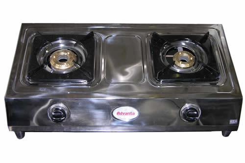 6-50                   Low Pressure 2 Burner Stainless Steel Table Top Stove