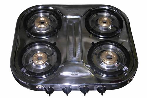 6-55                    Low Pressure 4 Burner Stainless Steel Table Top Stove